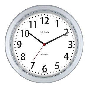 Relógio de Parede Redondo Branco Silencioso 28 cm Herweg