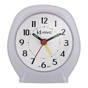 Relógio Despertador Quartz Tradicional Herweg Branco