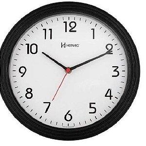 Relógio De Parede Analógico Mecanismo Step Herweg Preto