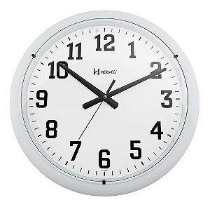 Relógio Parede Silencioso Grande Contínuo 40cm Herweg Branco