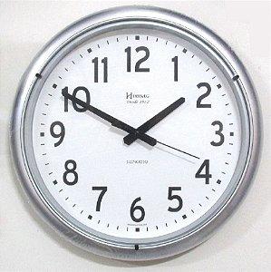 Relógio Parede Silencioso Grande Contínuo 40cm Herweg Cinza