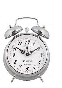 Relógio Despertador Mecânico Clássico Herweg