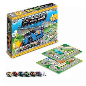 Jogo Tabuleiro Fórmula E Emoção C/ 6 Carros Cartonados Toia 12088