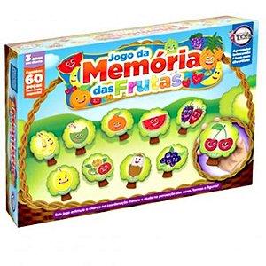 Jogo Da Memória Das Frutas 60 Peças - Toia Brinquedos 12148