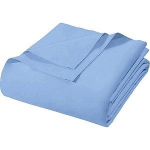 Lençol de Elástico Avulso Royal Tinto Santista - Casal - Azul