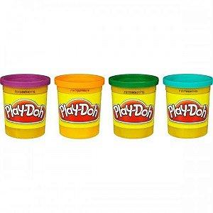 Massinha Play-doh Kit Com 4 Potes De Cores Sortidas - Hasbro