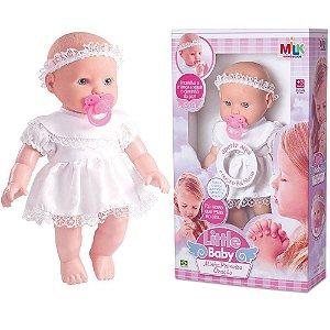 Boneca Little Baby Minha Primeira Oração - Reza O Pai Nosso - Milk Brinquedos