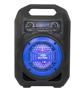 Caixa De Som Portátil Bluetooth Gallon Sm-csp1301 Azul Sumay