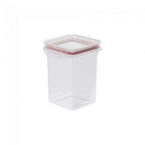 Porta Mantimentos Hermético Quadrado Trava Mais 830 ml