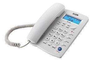 Telefone Fixo Elgin C/ Id. Chamada + Viva Voz