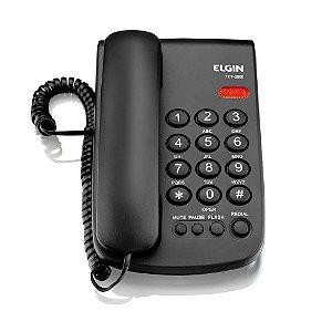 Telefone com fio Preto Elgin