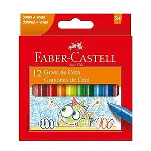 Giz De Cera Faber Castell 12 Cores