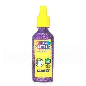 Cola Glitter Acrilex 35G Cor Violeta