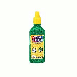 Cola Glitter Acrilex 35G Cor Verde