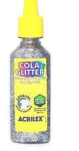 Cola Glitter Acrilex 35G Cor Prata