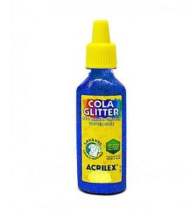 Cola Glitter Acrilex 35G Cor Azul