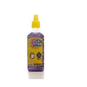 Cola Glitter Acrilex 35G Cor Lilas