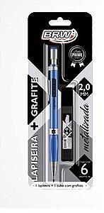 Lapiseira Azul Metalizada 2.0mm com grafite - Brw