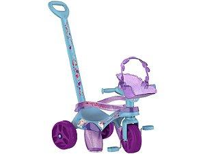 Triciclo Infantil Frozen Com Empurrador - Bandeirante