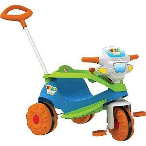 Triciclo Velobaby Passeio E Pedal Azul - Bandeirante