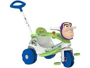 Triciclo Infantil Buzz Lightyear - com Empurrador Bandeirante