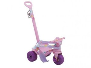 Triciclo Motoka Passeio e Pedal  Flower Rosa - Bandeirante
