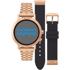 Relogio Euro Feminino Fashion Fit Rose Gold EUBJ3407AC/T4P