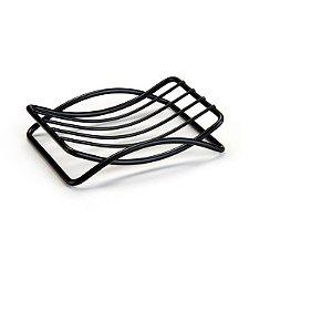 Saboneteira Porta Sabão De Aço Linha Black - Arthi