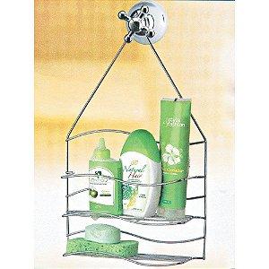 Porta Shampoo Onda Cromado - Arthi