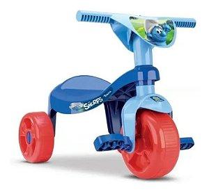 Triciclo Tchuco Smurfs - Azul - Samba Toys