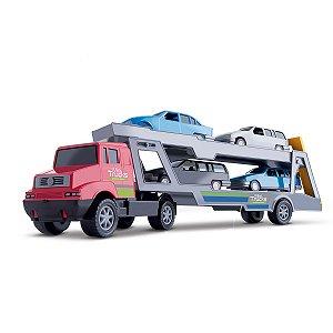Caminhao Mini Truck Cegonheira Com 4 Carros - Samba Toys
