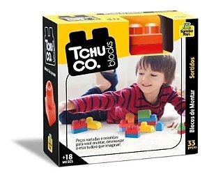 Blocos De Montar Tchuco Blocks 33 Peças Samba Toys