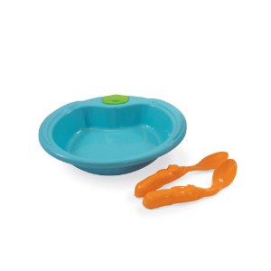 Conjunto De Alimentação Ursinho 3 Peças Azul Turquesa - Adoleta Bebê
