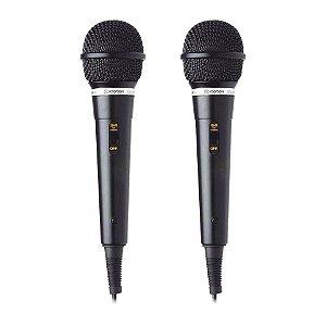 Kit 2 Microfone C/ Cabo De 3M Hoopson