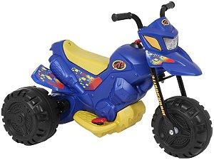 Mini Moto Elétrica Infantil XT3 2 Marchas 6V Azul - Bandeirante