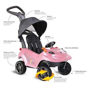 Carro Smart baby comfort (rosa) - bandeirante