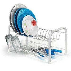 Escorredor de Louças com Porta Copos Branco - Arthi