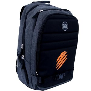 Mochila OEX Game Backpack Iron, Cinza/Preto - BK103