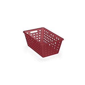 Caixa Organizadora Sqares Vermelha 4,2L Arthi