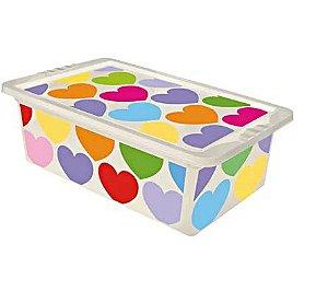 Caixa organizadora média 5,5L coração