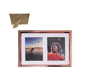 Porta Retrato De Plástico Para 2 Fotos 10CM X 15CM - Master