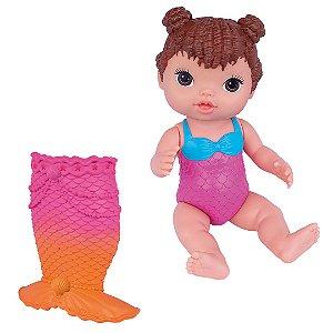 Boneca Babys Collection Minha Sereia Morena Super Toys