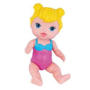 Boneca Babys Collection Minha Sereia Loira Super Toys