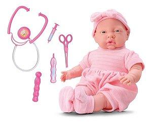 Boneca Bebê Com Acessórios Doutora Baby Brincar De Médica