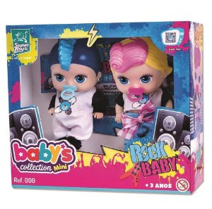 Bonecas Baby`S Collection Mini Rock Baby - Super Toys