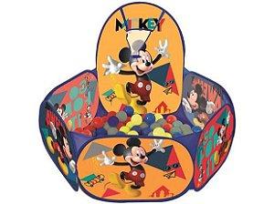 Piscina de Bolinha Mickey Disney com Cesta 100 Bolinhas Zippy Toys