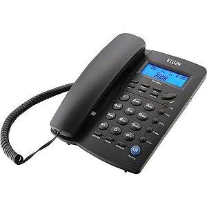 Telefone com Fio Elgin com Identificador de Chamadas Preto