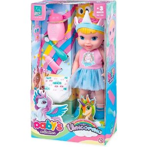 Boneca Babys Collection Unicornio Super Toys