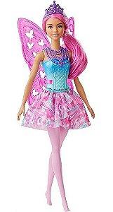 Boneca Barbie Dreamtopia Fada Cabelo Rosa Mattel GJJ99