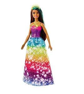 Boneca Barbie Princesa Morena Dreamtopia - Mattel GJK14